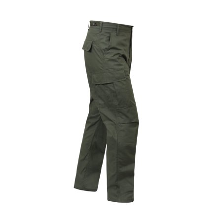 Youth Olive Drab (Rothco Rip-Stop BDU Cargo Pants, Olive Drab )