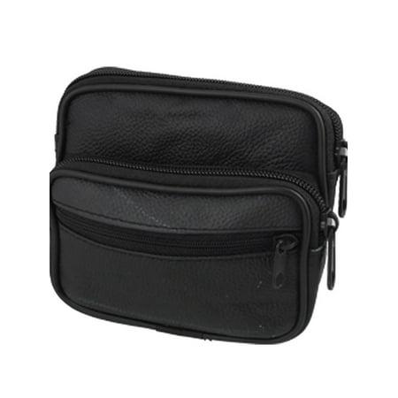 Unique Bargains Black Waist Wallet 3 Pocket Belt Bag for Digital Camera (Waist Camera Bags)