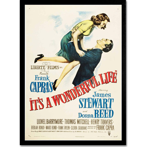 "Trademark Fine Art ""It's a Wonderful Life"" Canvas Art by Vintage Apple Collection"