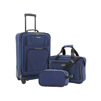 Travelers Club 3 Piece Expandable 4-Wheel Carry-On Set