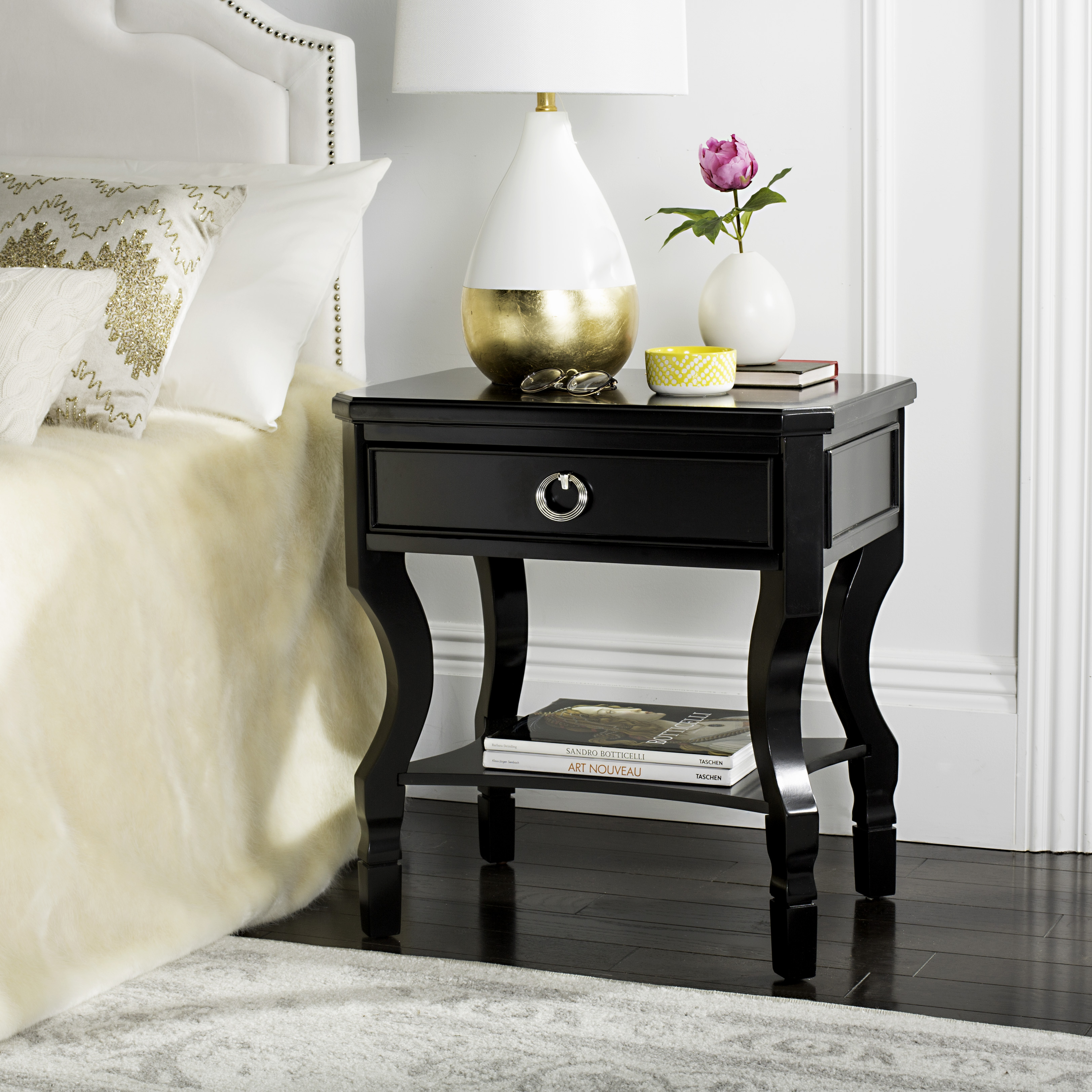 Safavieh Alaia Modern Glam One Drawer Night Stand