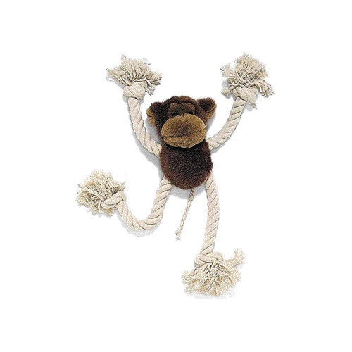 Ethical Pet Moppets Plush and Rope Monkey Dog Toy