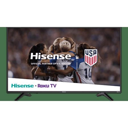 Hisense 43u0022 Class 4K Ultra HD (2160P) HDR Roku Smart LED TV (43R6E)