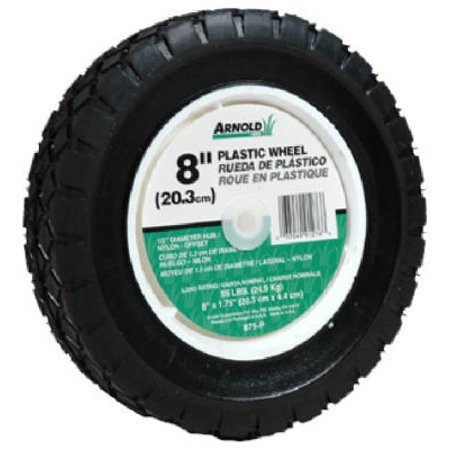 "8"" Plastic Universal Offset Replacement Lawn Mower Wheel, Arnold, 490-322-0003"