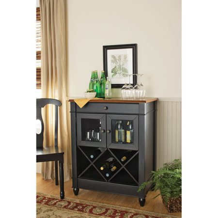 Better homes and gardens autumn lane wine cabinet black - Better homes and gardens kitchen design software ...