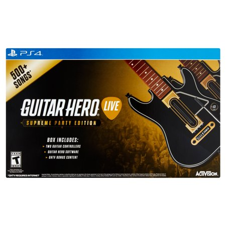 Guitar Hero Supreme Party Edition Bundle With 2 Guitar Controllers  Ps4