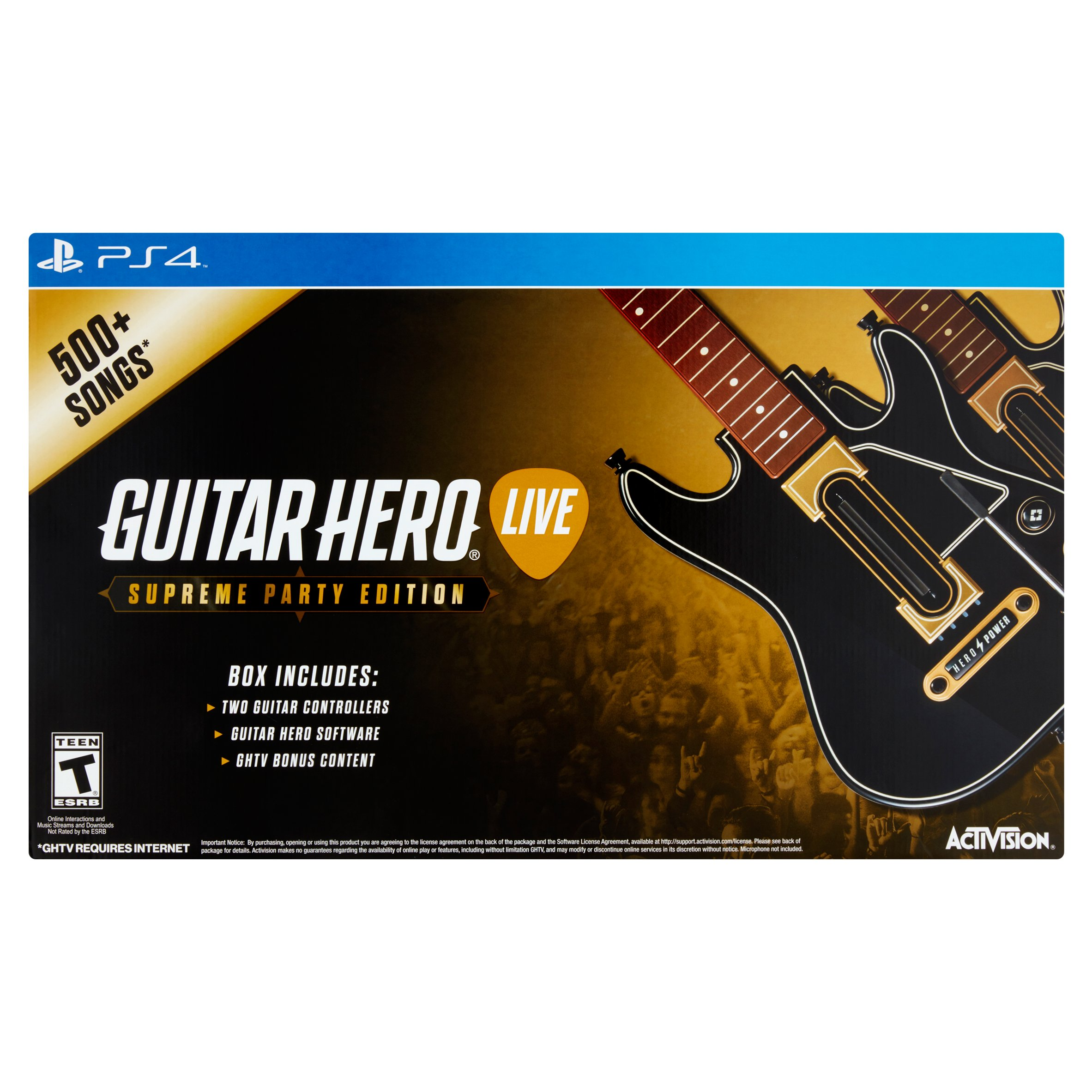 Guitar Hero Live Supreme Party Edition Video Game (PS4)