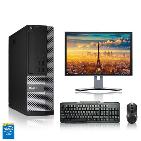 "Refurbished - Dell Optiplex Desktop Computer 2.8 GHz Core i7 Tower PC, 4GB, 160GB HDD, Windows 10 Home x64, 19"" Monitor , Wireless Mouse & Keyboard"