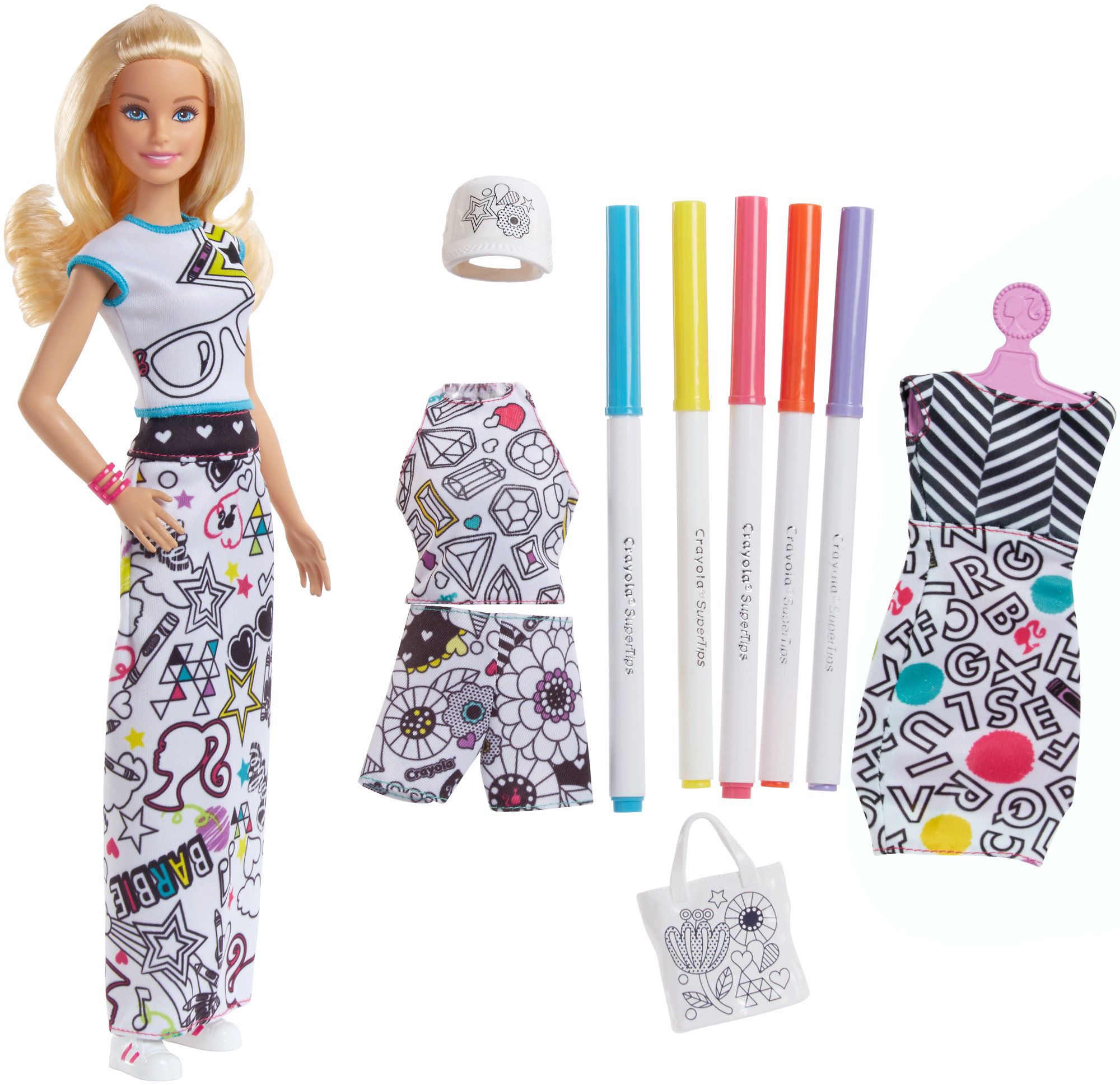 Barbie Crayola Color-in Fashions, Blonde by Mattel