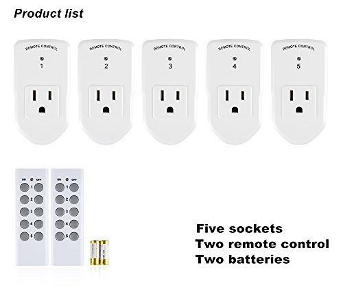 Century Wireless Remote Control Electrical Outlet Switch for Household Appliances, White... by Century Product