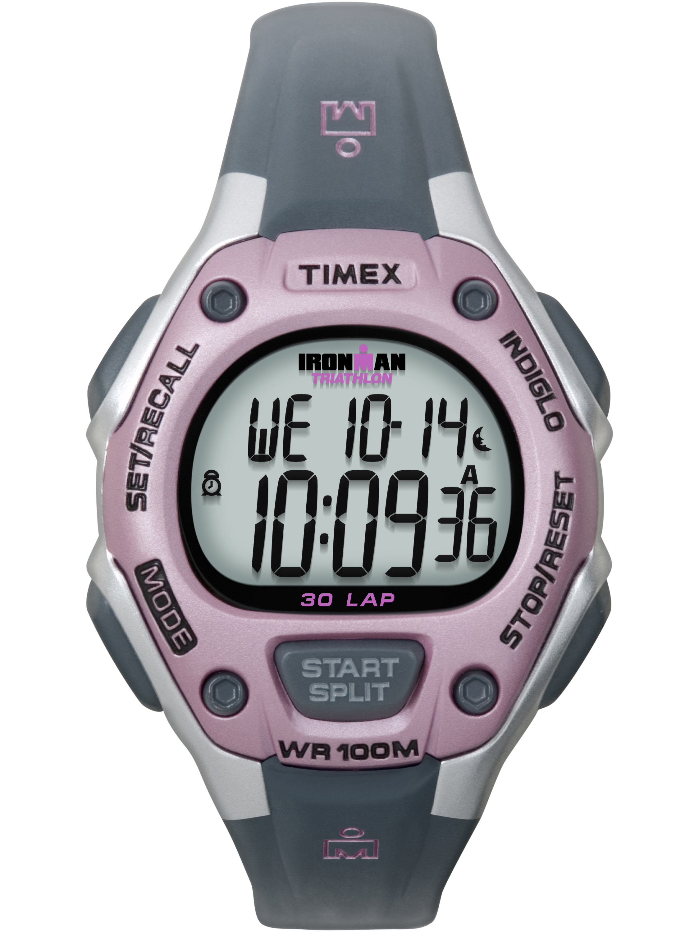 Timex Women's Ironman Classic 30 Mid-Size Watch, Gray Resin Strap