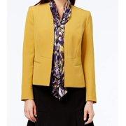 Kasper NEW Yellow Marigold Printed Scarf Women's Size 10 2-Piece Blazer Set $89