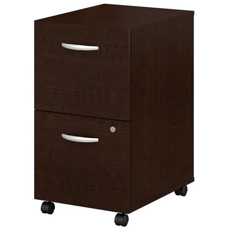 Fluted Cherry Pedestal - Scranton & Co Mobile Pedestal in Mocha Cherry
