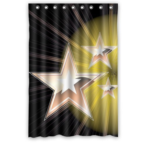 MOHome Pentagram Shower Curtain Waterproof Polyester Fabric Shower Curtain Size 48x72 inches