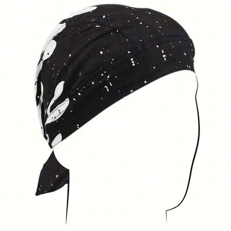 Headwrap - Black & White Flame - Outdoor