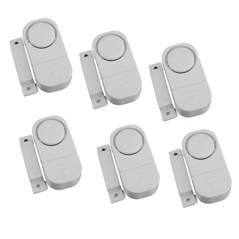 6-Pack Wireless Home Door Window Entry Burglar Security Alarm Magnetic Sensor