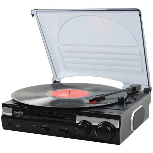 Jensen JTA-230 3 Speed Stereo Turntable with Built in Speakers by Original Equipment Manufacture