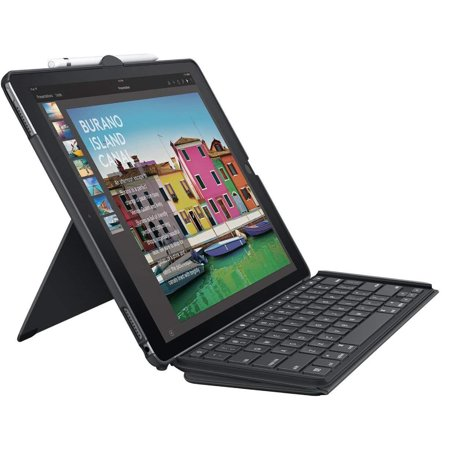Logitech iPad Slim Combo Case Bluetooth Wireless Keyboard iPad Pro 12.9