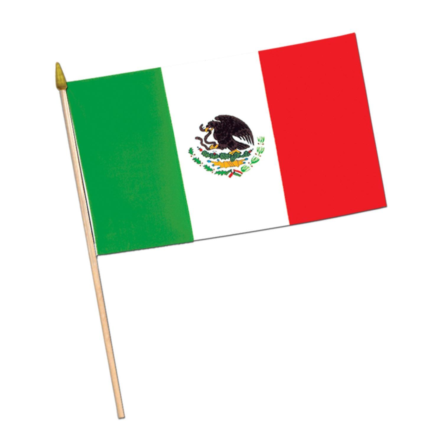 (Pack of 12) Mexican Flag Rayon with 22