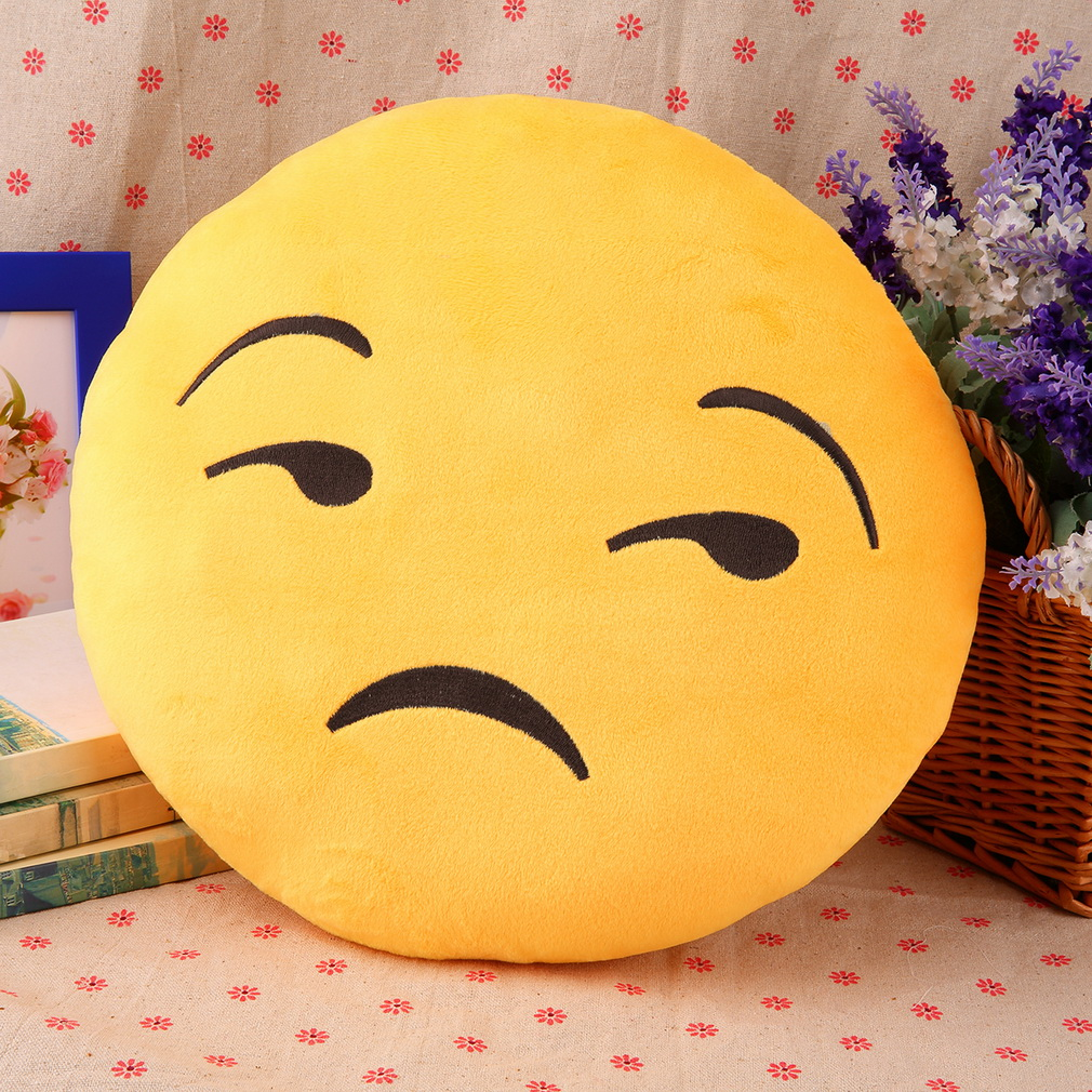 1pc Pretty Soft Emoticon Round Cushion Pillow Stuffed Plush Toy Doll Pillow
