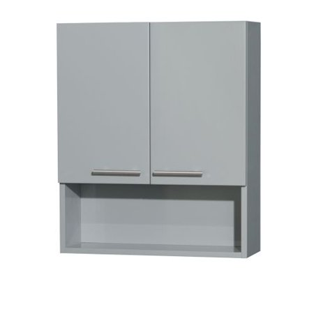 Amare Wall - Wyndham Collection Amare Bathroom Wall-Mounted Storage Cabinet in Dove Gray (2-Door)