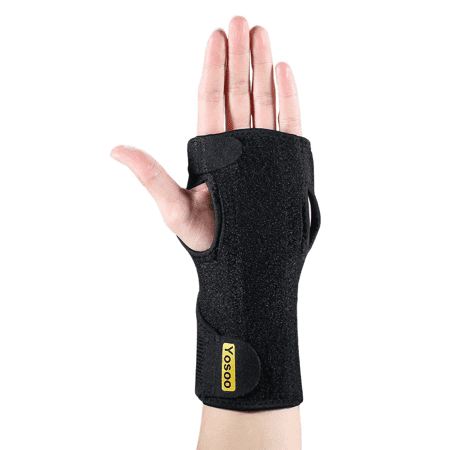 Black Night Sleep Support Brace Wrist Brace Fits Both Hands Adjustable Neoprene Wrist Splint Pain Relif For Carpal Tunnel Syndrome, Tendonitis, Arthritis, Sprains, Wrist (Best Night Wrist Brace For Carpal Tunnel)