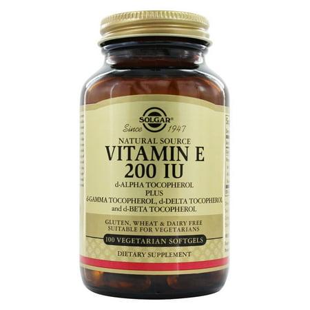 Solgar - Vitamine E d-Alpha Tocopherol 200 UI - 100 Vegetarian Softgels