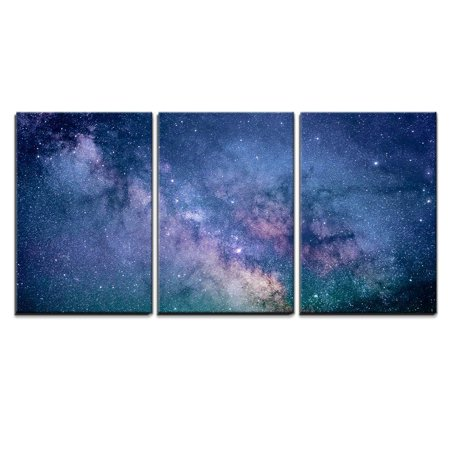 Decor Spice - wall26 - 3 Piece Canvas Wall Art - Starry Night Sky Deep Outer Space - Modern Home Decor Stretched and Framed Ready to Hang - 24