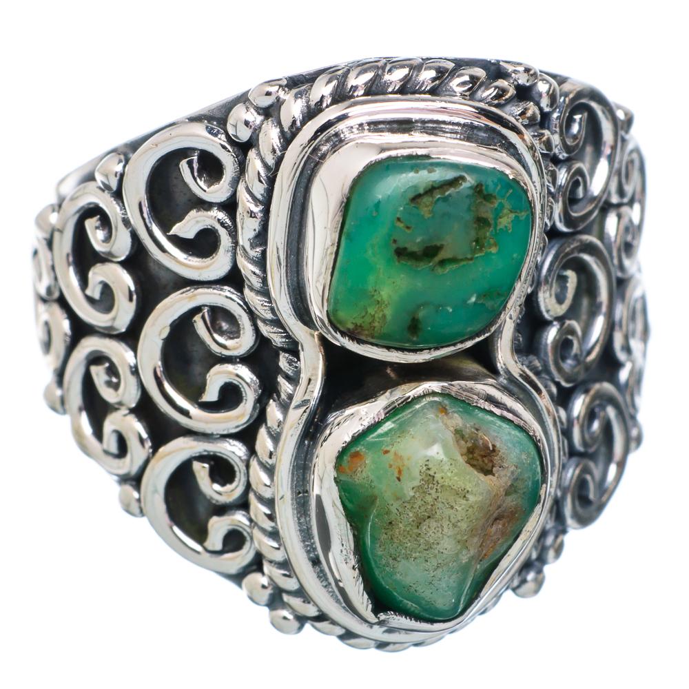 Ana Silver Co Rough Chrysoprase Ring Size 7 (925 Sterling Silver) Handmade Jewelry RING876511 by Ana Silver Co.
