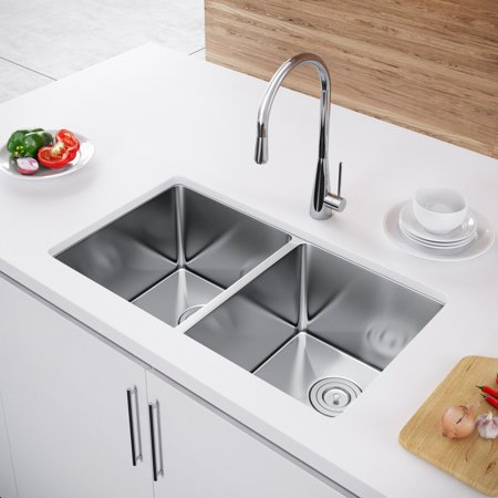 Exclusive Heritage 33 X 20 Double Bowl 50 50 Undermount Stainless