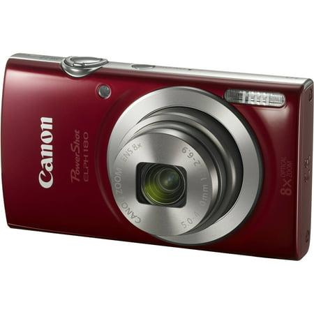 Canon PowerShot ELPH 180 Digital Camera (Red) - Walmart.com