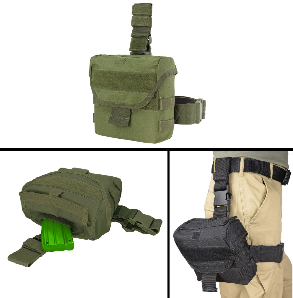 Ultimate Arms Gear ATI German Sports Gun GSG5  Rifle Tactical OD Olive Drab Green Utility Multi Purpose MOLLE Dump Ammo Ammunition Magazine Stripper Clips Pouch Drop Leg & Belt Adjustments