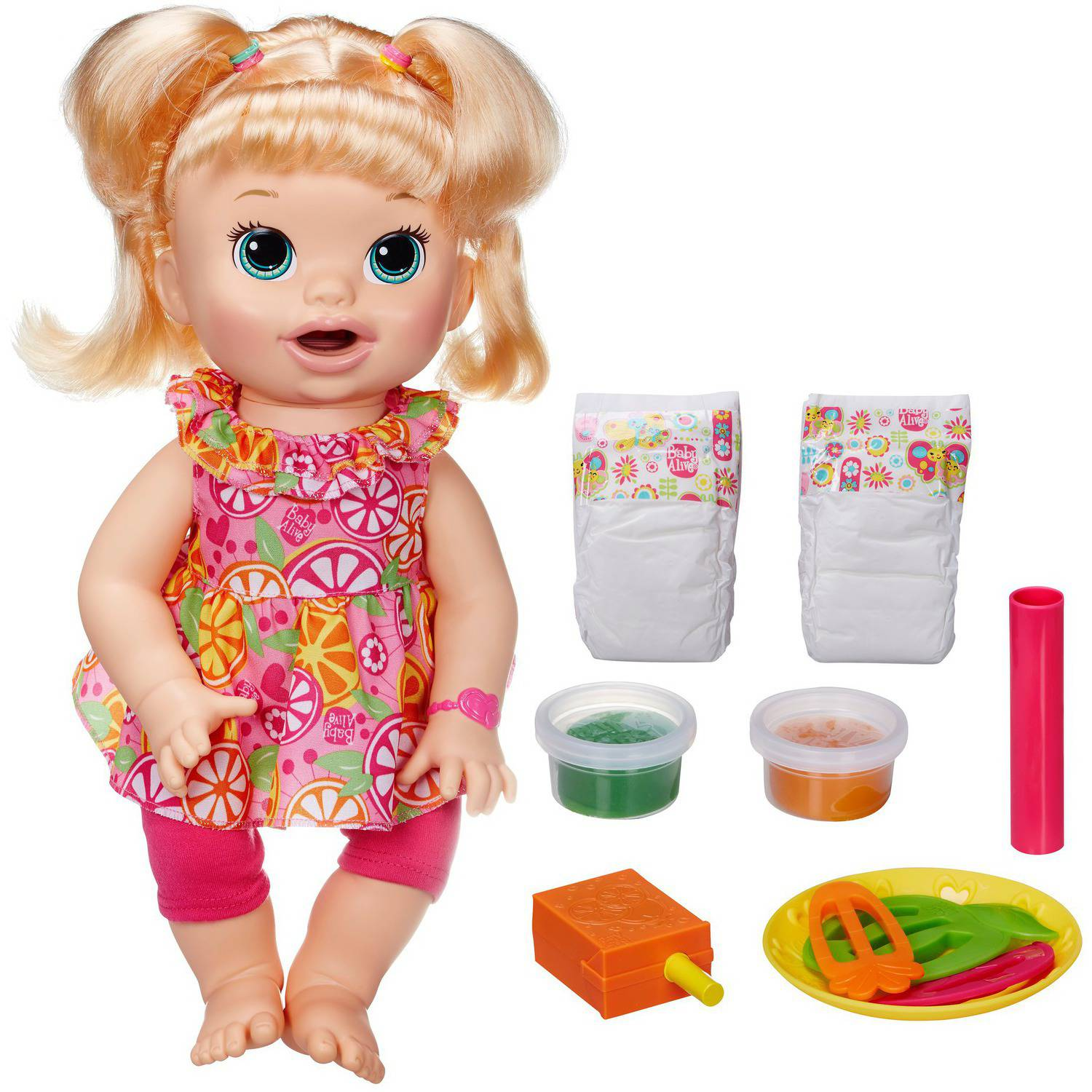 Baby Alive Super Snacks Snackin' Sara Doll, Blonde