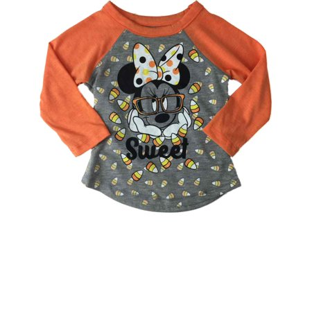 Infant Toddler Girls Minnie Mouse Candy Corn Sweet Halloween Tee Shirt](Minnie Mouse Coloring Pages Halloween)