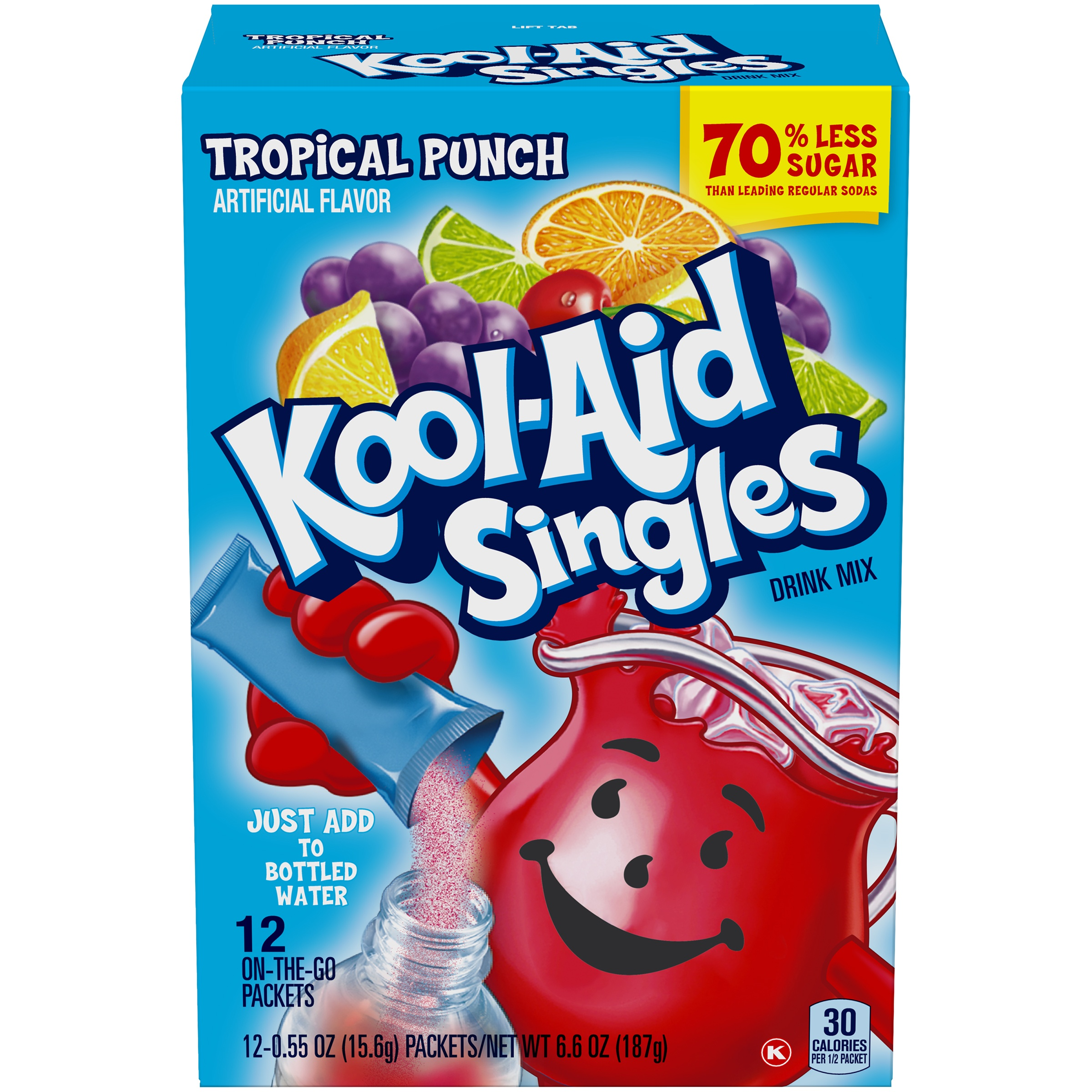 Kool-Aid Singles Tropical Punch Drink Mix 12 ct Box