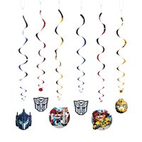 Transformers Swirl Decor (6pc) for Birthday - Party Supplies - Licensed Tableware - Misc Licensed Tableware - Birthday - 6 Pieces