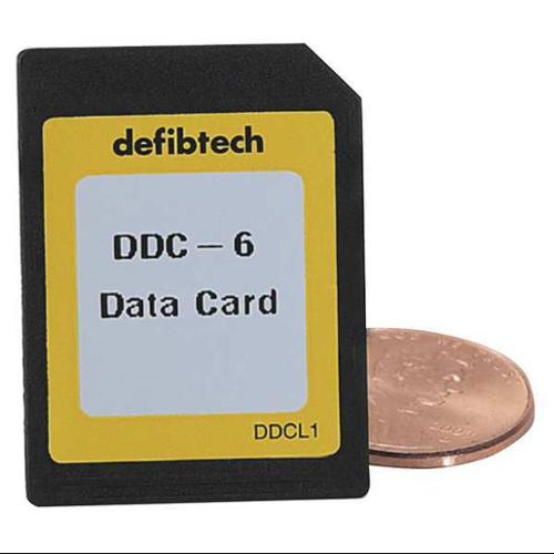 DEFIBTECH DDC-6 Lifeline Data Card,Med Capacity G8334715