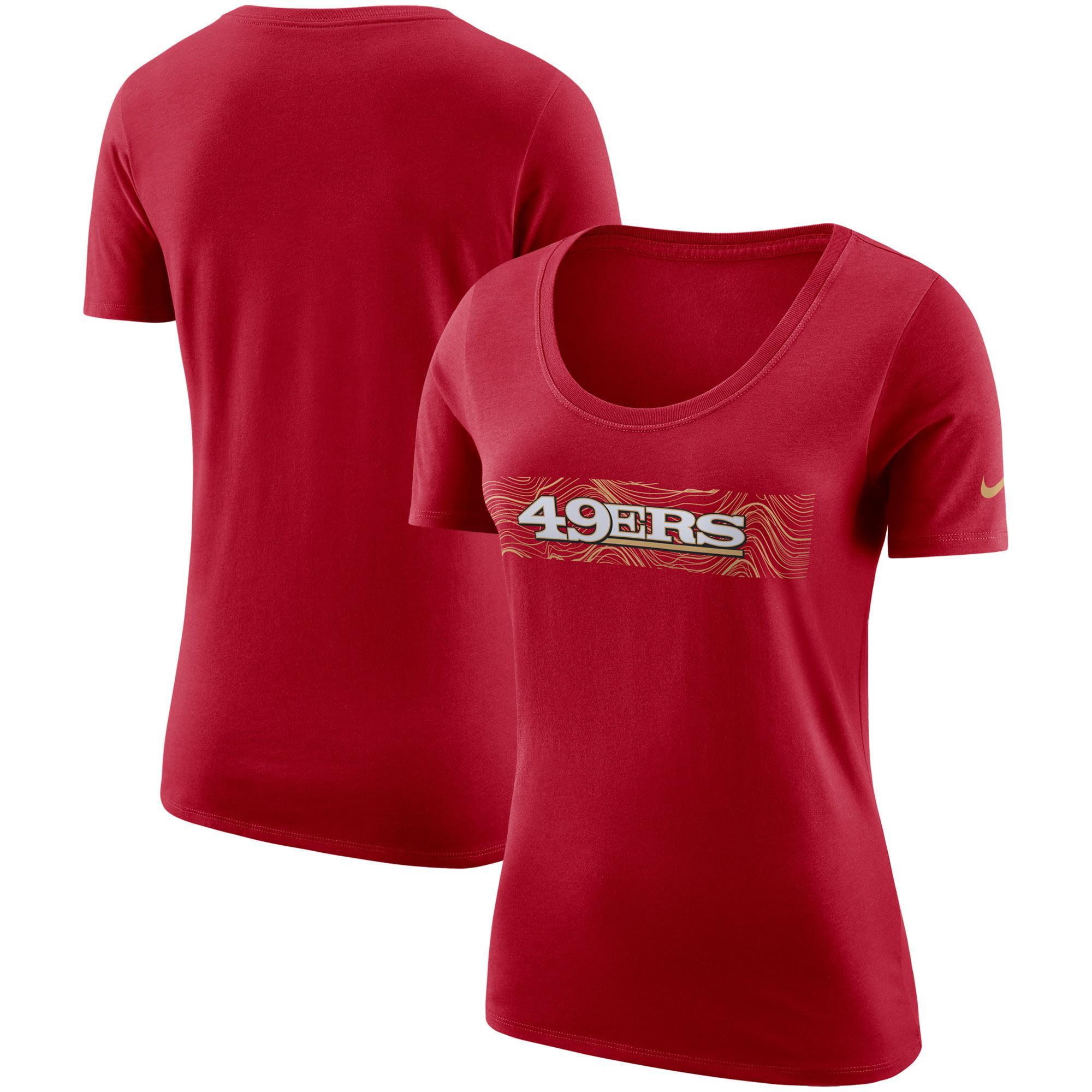 San Francisco 49ers Nike Women's Sideline Team T-Shirt - Scarlet