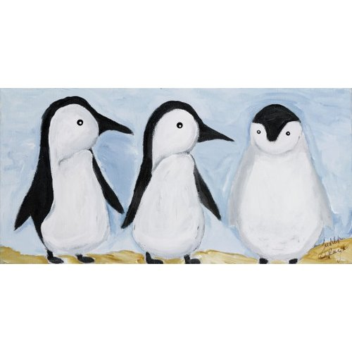 Judith Raye Paintings LLC Three Penguins by Judith Raye Painting Print