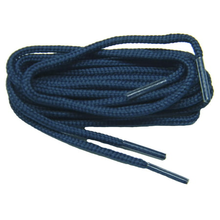 36 Inch 91 cm Navy Blue proGOLFER™ Casual Oxford 2mm round shoelaces for all quality shoes-(2 Pair Pack)