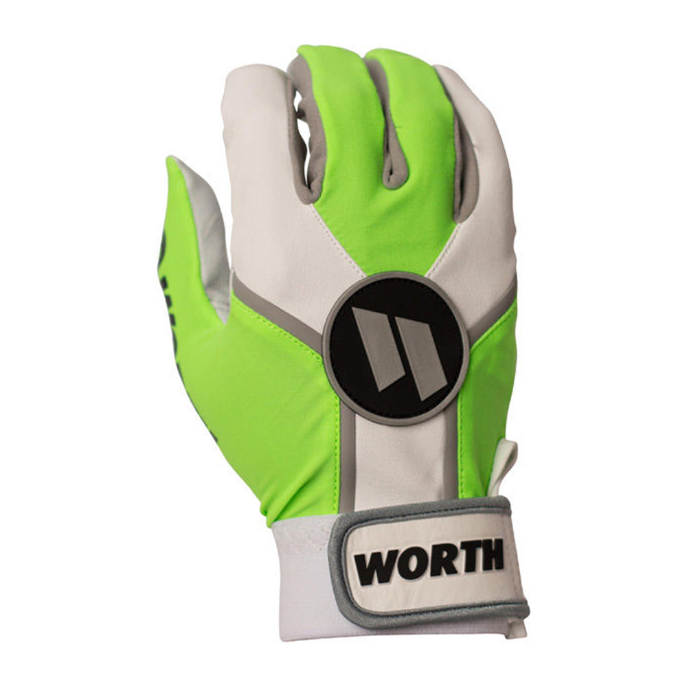 Worth Sports WBATGL-NG-05 Batting Gloves XXL - Neon Green. Comfort & Performance