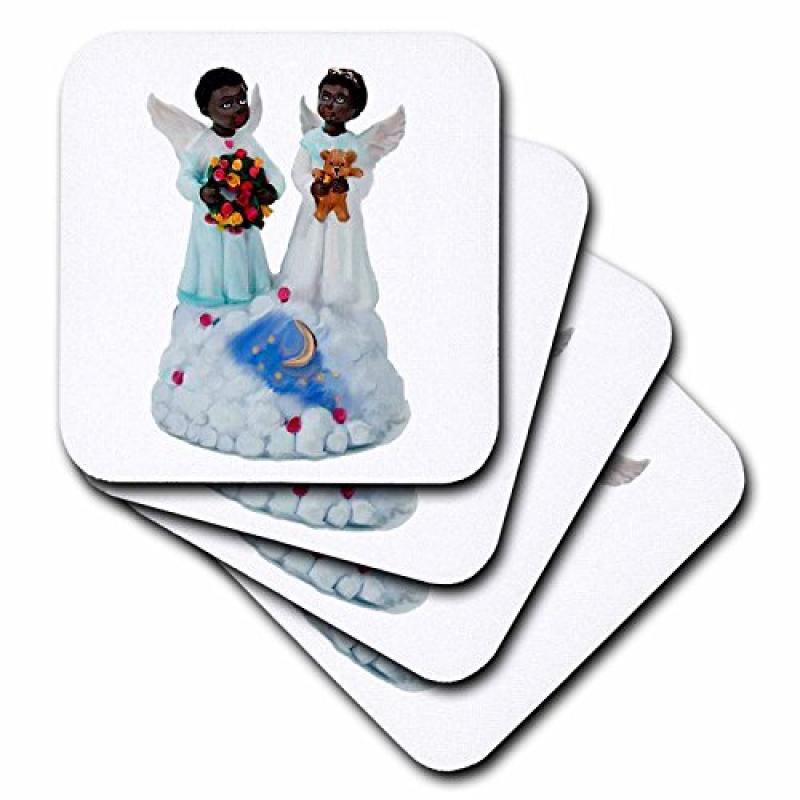 3d Rose 3dRose LLC African-American Angels Ceramic Tile C...