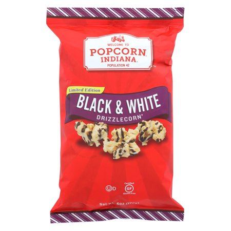 Popcorn Indiana Drizzled Kettlecorn - Black & White - Pack of 12 - 6 - Chocolate Drizzled Popcorn Recipe