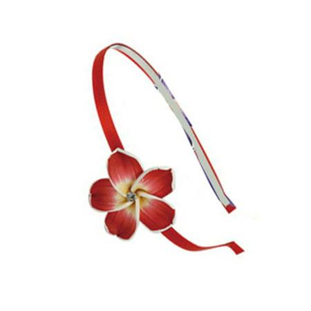 Hawaiian Flower Tiera - Flower Petal Headband (Red)