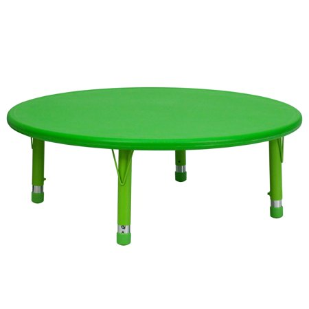 45 Inch Round Adjustable Green - Flash Furniture 45'' Round Height Adjustable Plastic Activity Table un Multiple Colors