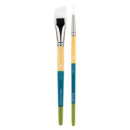 Princeton Art & Brush Co - Snap Short Handle White Nylon Taklon Brush - Round - 2/0
