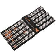 M.V. Trading 901013 10 Piece 5 Pairs Spiral Stainless Steel Chopsticks