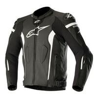 Alpinestars Missile Mens Vented Leather Jacket Black/White