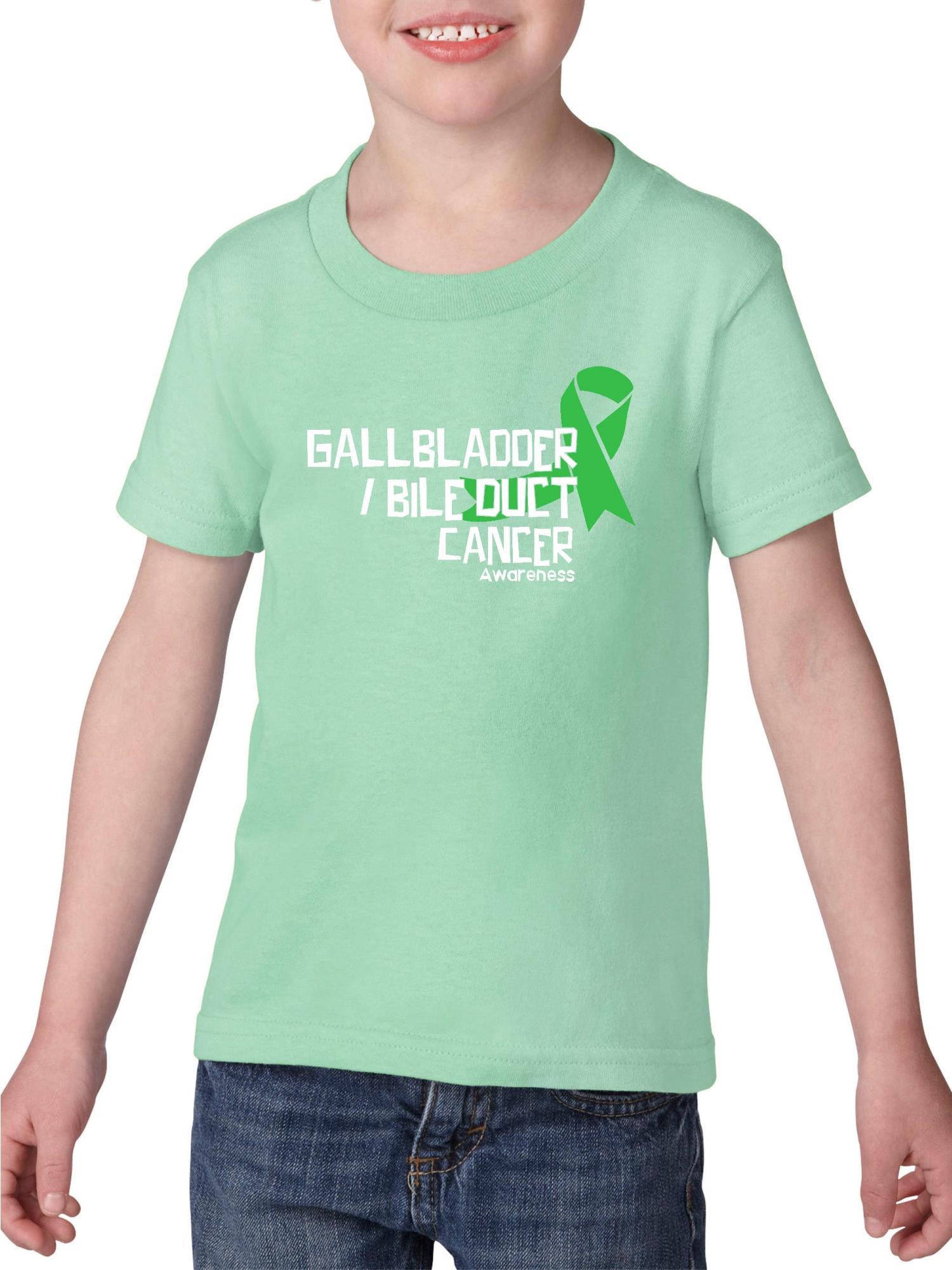 Gallbladder Bile Duct Cancer Awareness Heavy Cotton Toddler Kids T-Shirt Tee Clothing