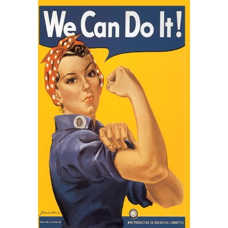 We Can Do It!: Vintage Rosie Riveter WWII Artwork on Cover-Perfect Notebook for All Writing Needs-100 Lined Pages-Perfect Gift (Paperback)